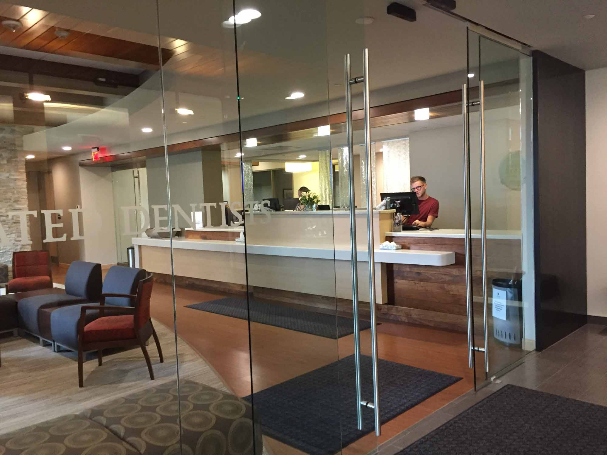 Reception area of Associated Dentists in Madison Location