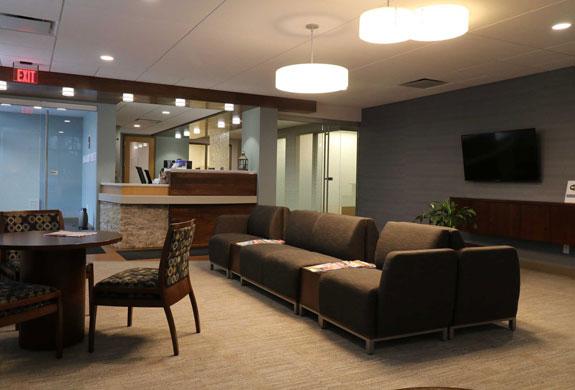 Waiting room of Associated Dentists Verona Office