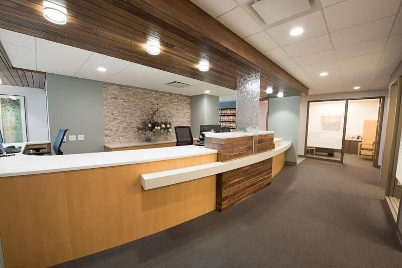Reception area in Associated Dentists Verona Office