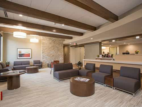 Waiting area of the Associated Dentists Madison Office