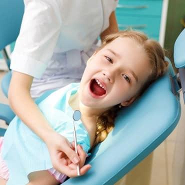Cute baby dental checkup