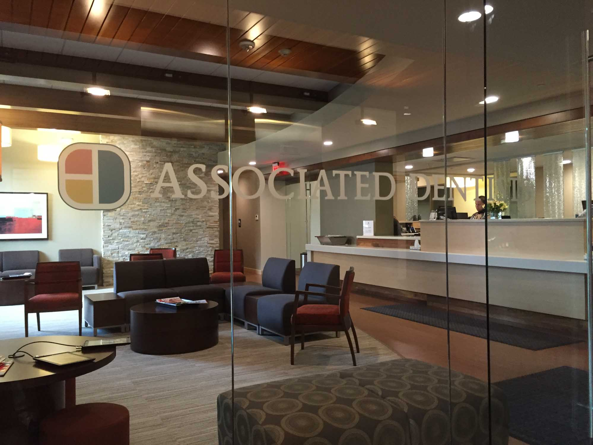 Transparent door before entrance in Associated Dentists Madison Office
