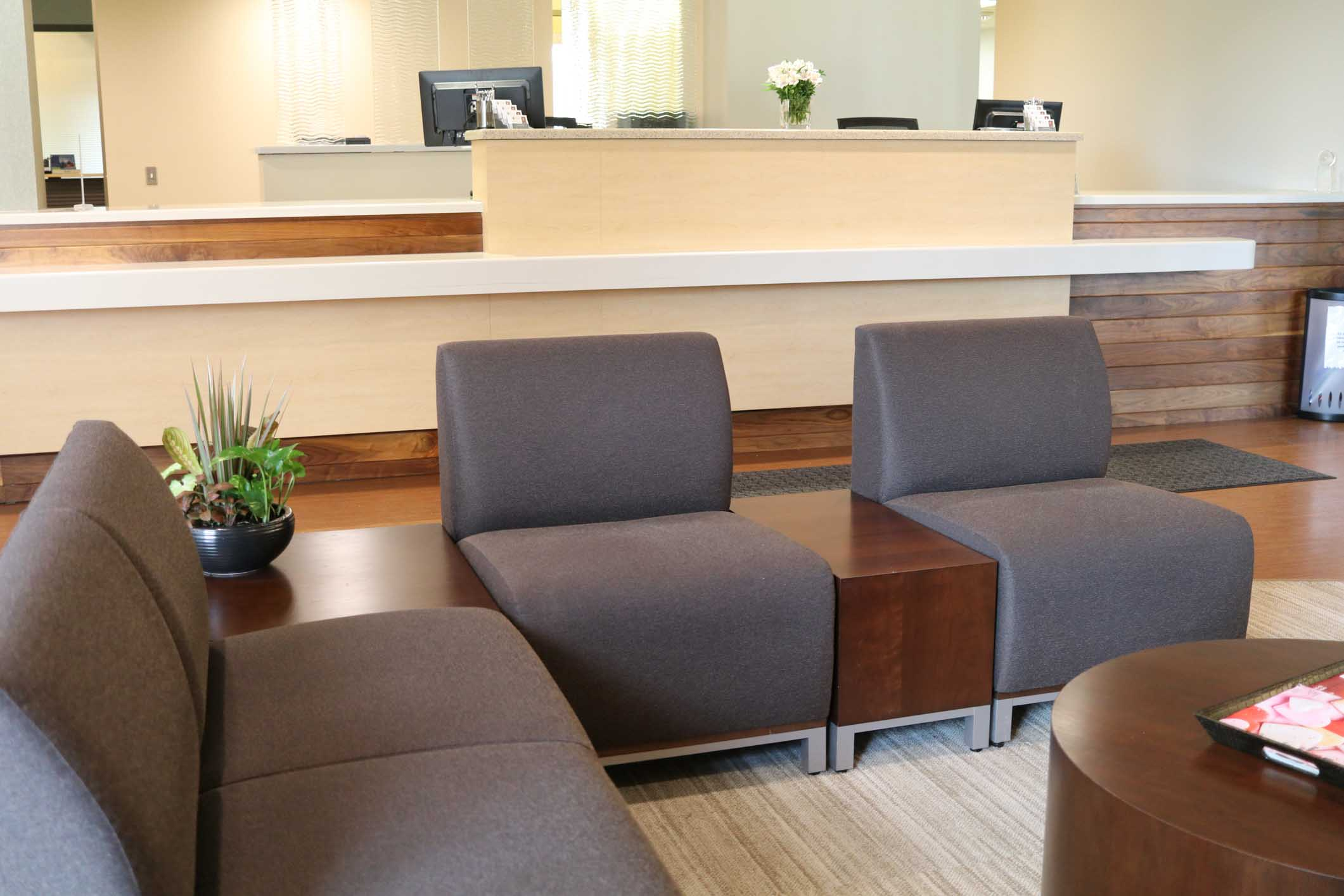 Waiting area with seaters in Associated Dentists Madison Office