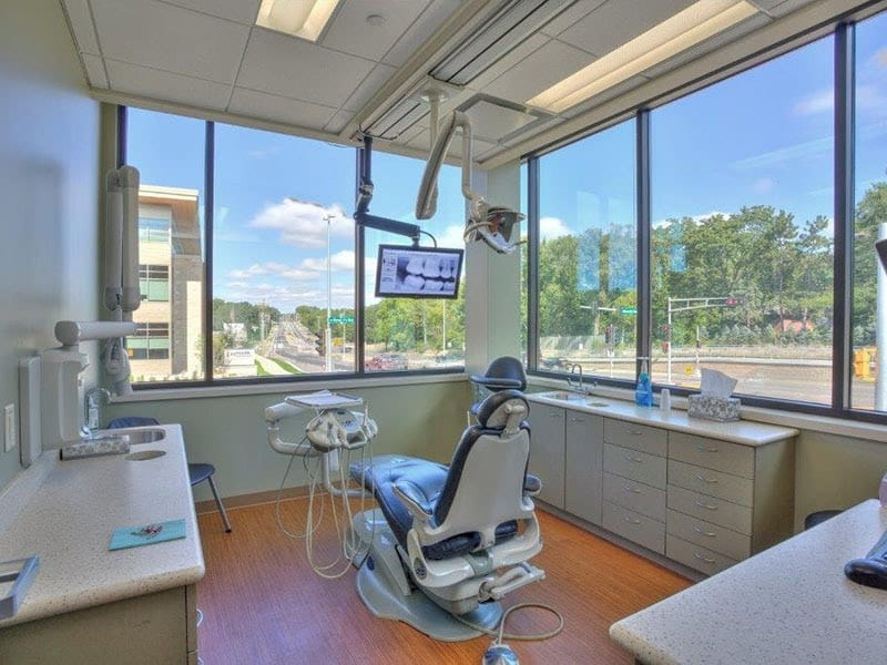 Dentistist chair with monitor