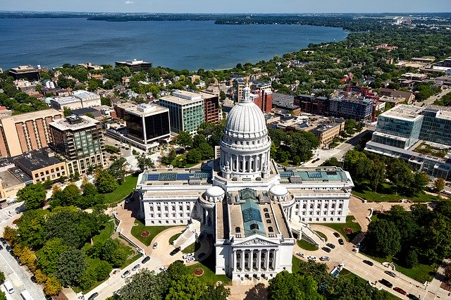 Madison WI aerial view
