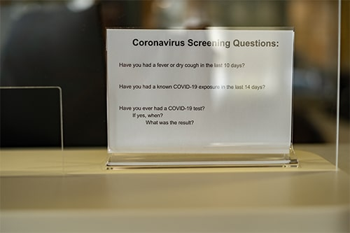Corona virus screening